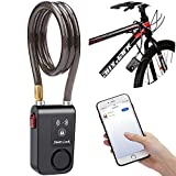 Best Bike Locks With Alarms - wsdcam Bluetooth Bike Lock Alarm 110dB Universal Security Review