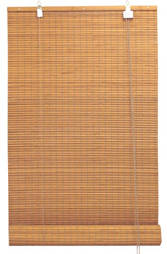 Bambú flat-weave sun-filtering enrollable estor–60cm W por cm H