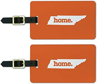 Tennessee TN Home State Luggage Suitcase ID Tags Set of 2 - Solid Orange