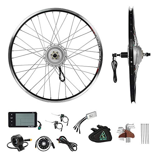 YOSE POWER 36V350W 28'(700C) E-Bike Conversion Kit Heckmotor Steckkranz Elektrofahrrad Umbausatz Cassette mit Heckmotor 28 Zoll mit LCD Display