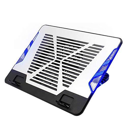 XUERUIGANG Almohadilla de enfriamiento portátil, refrigerador portátil Portátil Portátil Soporte de enfriamiento Riser con 1 Ventiladores Compatible Compatible Portátil Refrigerador Pad Base Base LED
