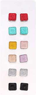 Healifty 12pcs Magnetic Scarf Brooch Pin Square Hijab Pins Clasp Scarf Buckle Snap Fasteners Studs Clothing Snaps Button Random Mixed Color