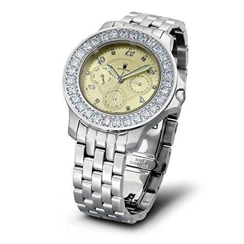 Astboerg Royal Diamond AT1021SCMB Damenuhr mit Diamanten und Baguette-Zirkonia
