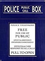 Police Public Call Box ティンサイン ポスター ン サイン プレート ブリキ看板 ホーム バーために