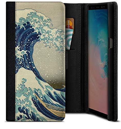 Funda Tipo Libro Great Wave Off Kanagawa de Hokusai para Samsung Galaxy S9