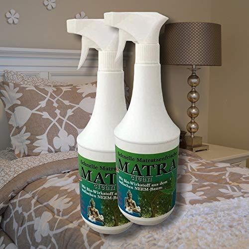 2X 1 Liter Matra CLEAN Milbenspray für Matratzen & Polster | Milbenschutz | Milben-Stop-Spray | Matratzenreiniger | Anti Milbenmittel - neutralisiert schnell und zuverlässig
