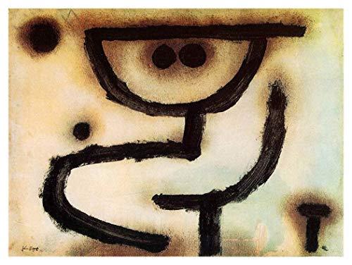 JH Lacrocon Umfassen 1939 von Paul Klee - 90X65 cm Abstrakt Leinwand Gemälde Handgemalt Reproduktionen Gerollte Wandkunst für Wohnzimmer