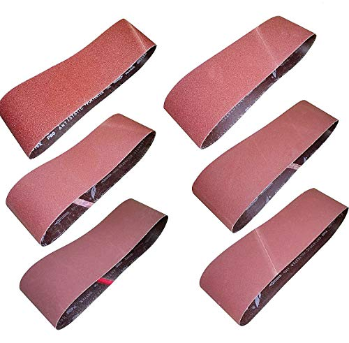 M-jump 12 Pcs 4 x 36 Inch Aluminum Oxide Sanding Belt
