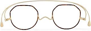 [薄さ2mmの老眼鏡ペーパーグラス] スタンダードクラシック 七宝「クラウンパント」ブラウンデミ(+2.00) おしゃれ 携帯用ケース付き 栞(しおり)型リーディンググラス メンズ レディース ギフト 鯖江 1年間保証