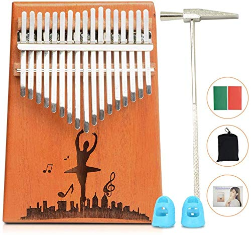 17 Teclas Kalimba Professiona Marimba Instrumento,portátil