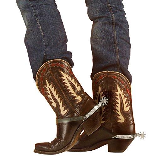 NET TOYS Espuelas Cowboy del Oeste Vaquero Oeste espolón Salvaje Accesorio Traje