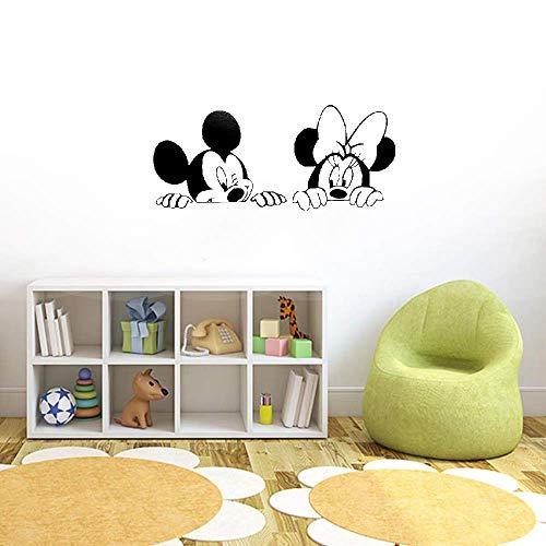 Décoration murale Mickey Minnie Mouse Pépinière de dessin animé pour chambre d'enfants Mickey Minnie Mouse Décors de maison mignons Décoration de chambre Autocollant