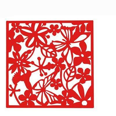 Colgando Tabique Mariposa Colgando Biombo Puerta De Entrada De La Sala Dormitorio La Televisión De Fondo Pegatinas De Pared Hueco De Ventana Panel Pantalla Colgante (Color : Red)