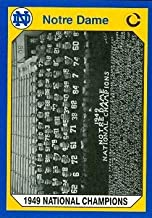 1949 Notre Dame Champs Football Card (Notre Dame) 1990 Collegiate Collection #162