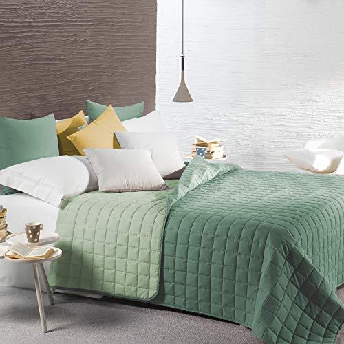 Caleffi Gesteppte Tagesdecke für französisches Bett, wendbar Una piazza e mezza Giada