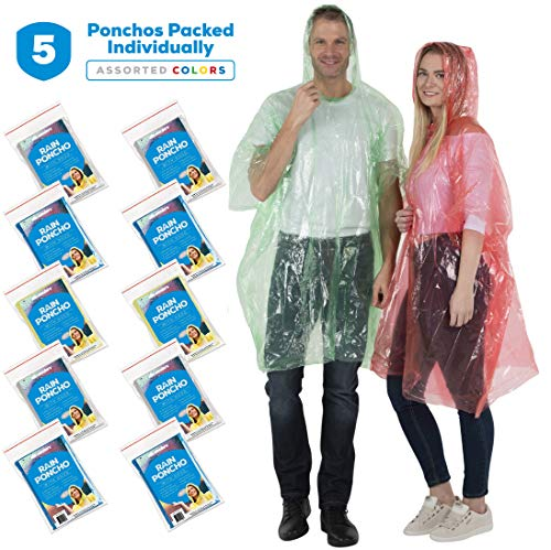 Wealers Rain Ponchos for Adults Teens Disposable Rain Poncho Bulk...