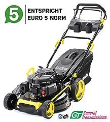 Craftfull Premium Bensin gräsklippare 5in1 - Euro 5-4.4 Kw 6 Ps - 196 cc 4-takts Motor - GT BrandEd Växellåda - 53 cm Skärbredd - Självkörning - Lätt Ren (CR-196-10 4.4 KW 6 Ps 196cc Motor)