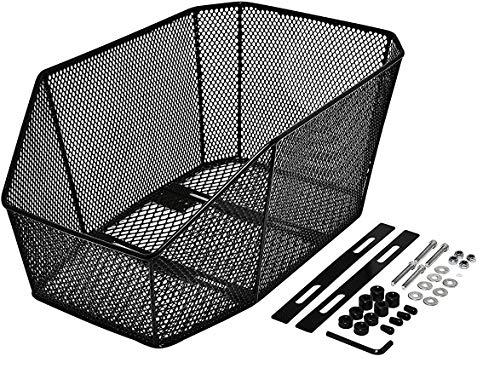 P4B | Cesta trasera para bicicleta | Cesta de mochila escolar Jumbo Pro para bicicleta cesta para portaequipajes cesta trasera | montaje fijo XXL (47 x 30,5 x 20 cm)