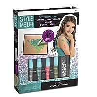 私をスタイルアップ - 子供のきらびやかなタトゥーセット、女の子と男の子のための輝くタトゥークラフトキット、誕生日のための創造的なギフトの考え - SMU-1113