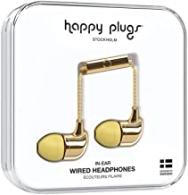 Happy Plugs In-Ear Fashion-Tech Headphones with Mic and Remote, Gold