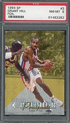 Grant Hill Detroit Pistons 1994 SP Upper Deck Foil Basketball Rookie Card RC #3 Graded PSA 8