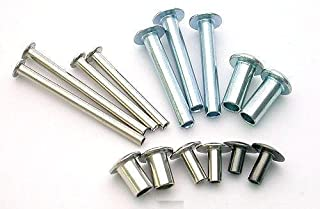 1//4 Length 5//16 Head Diam 1000 piece box 18-8 Stainless Steel Sem-tubular Rivet 3//16 Body Diameter OVAL Head Style