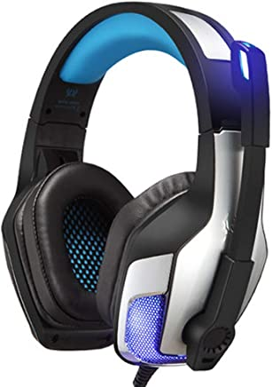 Cuffie da Gioco per Cuffie da 3,5 mm PS4 con Luce a LED, con Microfono a cancellazione di Rumore e Controllo del Volume, Compatibile con PC, Xbox One, PS4, Nintendo Switch e dispositivi mobili-Blue - Trova i prezzi più bassi