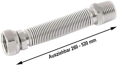 75-130mm Wellrohr ausziehbar 1//2 AG-flachdichtend auf /Überwurf
