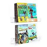 Estantería de Pared Estanterías Cubos Juego de 2 Estantes para libros CDs Acrílico Transparente