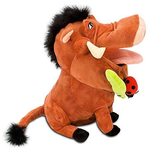 "Disney Store The Lion King 14"" Pumbaa Plush Stuffed Animal Toy"