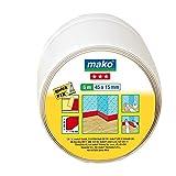 Mako GmbH Plinthe souple Profil de transition Seuil/seuil de porte Blanc 45 x 15 mm 5 m