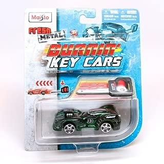 Nite Crawler (Green) Burnin' Key Cars Maisto Fresh Metal Car with Classic Key Launcher by Burnin' Key Cars