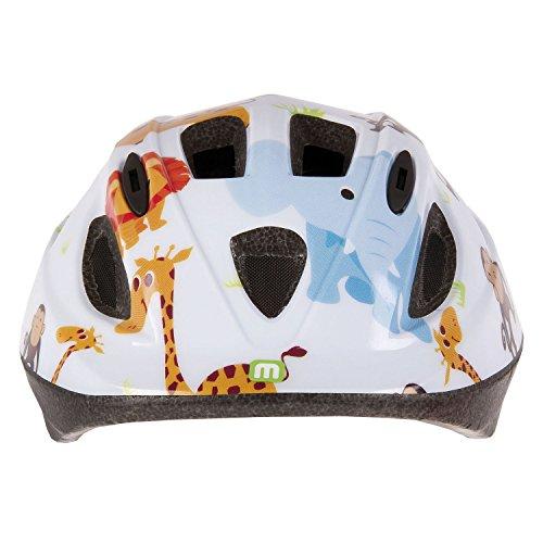 Mighty Kids 'Junior Zoo XS – Casco para Bicicleta, Color Blanco, 48 – 54 cm