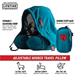 Grand Trunk | Hooded Travel Pillow (Peacock Green) | High-Grade Memory Foam | 360 Neck and Head Support | Carry Bag Included | Storage Pocket | Perfect for Airplane or Car Sleeping