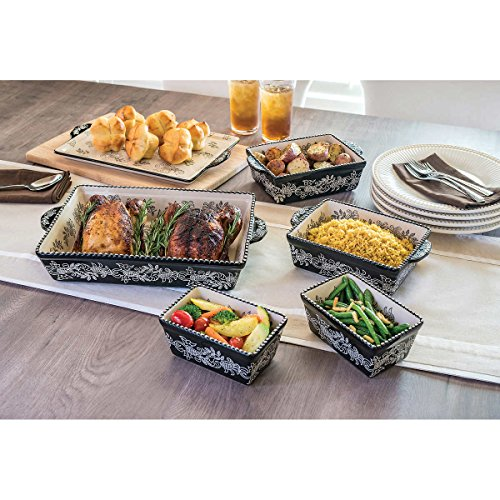 Baum Dishwasher Safe Ceramic Serveware Bakeware In Black 6 Piece Oven To Table Set That S Designed To Make Gatherings Easy And Breezy Perfect For