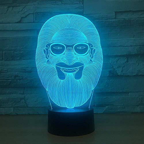 3D Luz De Noche Led lámpara para habitación infantil 3D illusion light decoración de dormitorio regalo lámpara de noche creativa regalo Con interfaz USB, cambio de color colorido