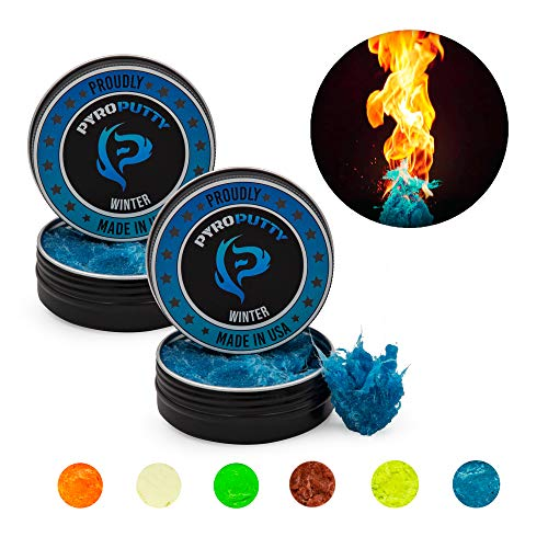 Phone Skope PYRO Putty Winter, Summer, Eco Blend, Emergency Survival Fire Starter (2 oz 2-Pack Winter -20°F to 90°F)