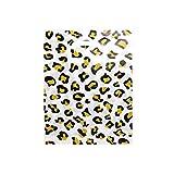 Complete Retail Solution Ltd 400 x Leopard Impresos 15 x 18 Pulgadas + 3 Fuertes Bolsas de plástico con asa troquelada