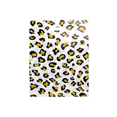 Complete Retail Solution Ltd 400 x Leopard Impresos 15 x 18 Pulgadas + 3 Fuertes Bolsas de plástico con asa troquelada de Lujo