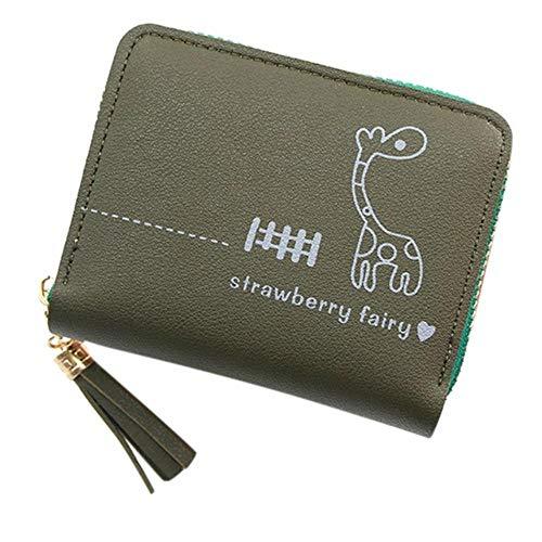 Regen kwastafdrukken vrouwen portemonnee met rits kleine portemonnee Womens Portemonnees