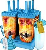 HelpCuisine EIS am Stiel Bereiter, für Kinder, 6 Stück mit Reinigungsbürste und Falttrichter (Blau)