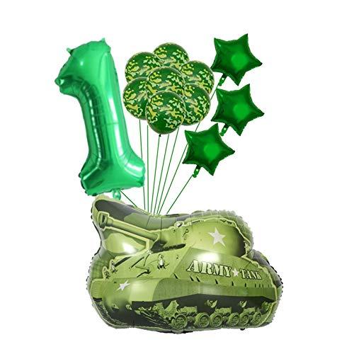 Xx101 Globos 12 unids/Lote Globos Verdes fijados Globos Grandes Feliz cumpleaños Tema Militar Decoración de Fiesta Regalo Niños Juguetes para niños (Farbe : Mint Grün)