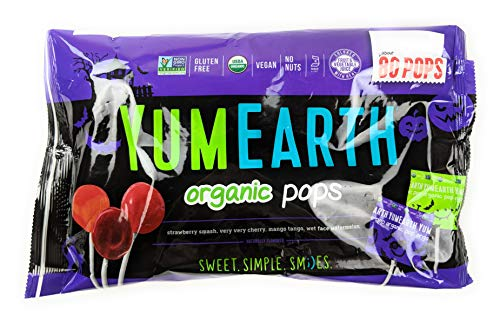 Halloween Organic Fruit Pops Yum Earth 80 ct Bag