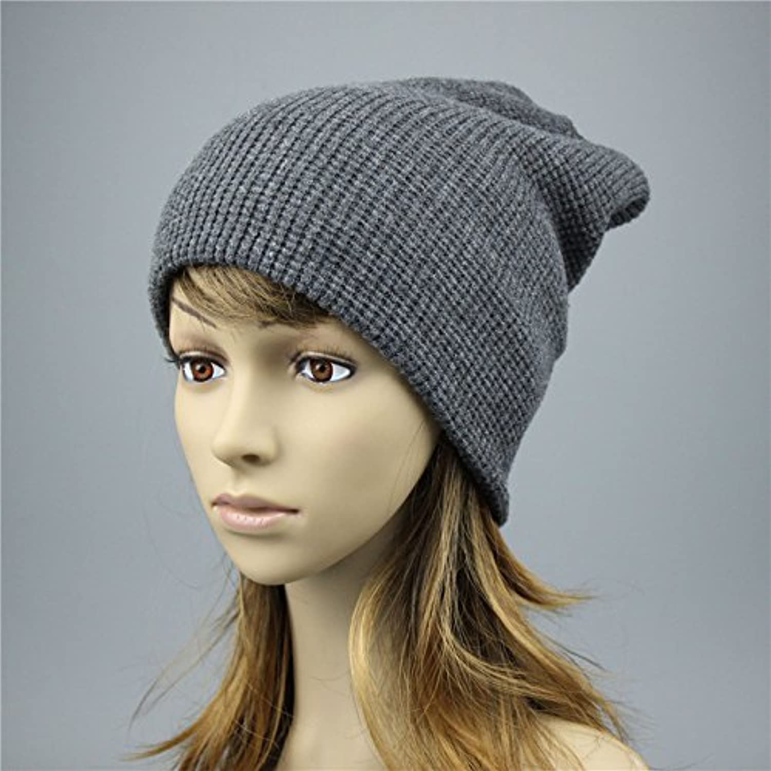 QETUOAD Women's Winter Hats Knitted Mating Hat for Women Skully Beanie Female Black Beanies Js271A