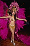Póster de disfraz para carnaval brasileño, tamaño A4, de 25,4 x 20,3 cm