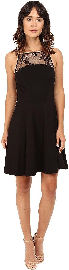 BB DAKOTA Women's Milford Lace Trim Fit N Flare Dress