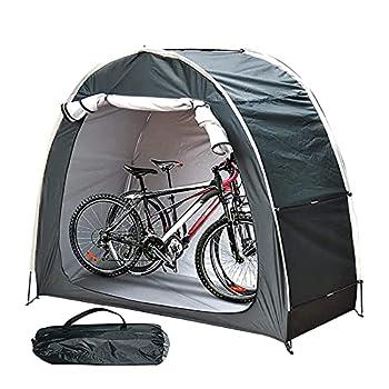 Abri de Stockage de vélo de Tente d'auvent de vélo avec la Conception de fenêtre Multifonctionnel extérieur étanche à la poussière pour Le contrôle des Insectes de pêche de Stockage (Black2)