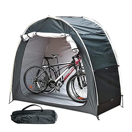 QLIGHA Carpa para Bicicletas Plegable Cobertizo para Guardar Bicicletas Impermeable Porable Jardín Carpa para Bicicletas Cubierta Refugio con Ventana para Exteriores, Acampar y Caminar