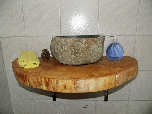 Waschtischplatte, Baumscheibe, ca. 80 x 40 x 5 cm, Waschtisch, geschliffen,Ahorn, geölt