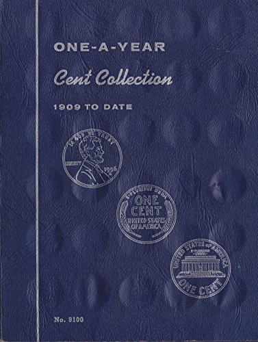 1909-DATE-CENT-COLLECTION-No-9100-WHITMAN-ONE-A-YEAR-COIN-ALBUM-BINDER-BOARD-BOOK-CARD-COLLECTION-FOLDER-HOLDER-PAGE-PORTFOLIO-PUBLICATION-SET-VOLUME